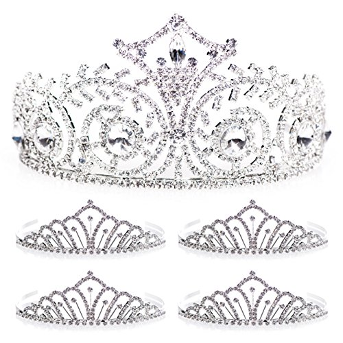 (Elsa Queen and Karen Court Tiara Set, one Elsa Tiara 3