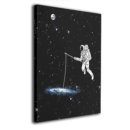 3d astronaut wall decor space astronaut kjiurhfyheuij astronaut fishing giclee wall art 3d print painting none frame decorative for home decorations amazoncom