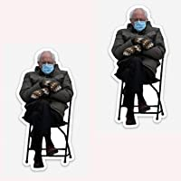 """Bernie Sanders- 2pc Mittens Sitting at Inauguration, PIN- 3/4"""" by 1.5"""" Pin, Perfect for Your Backpack, Clothes, Jacket…"""