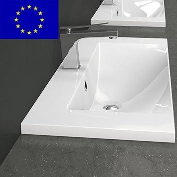 Einbau-Waschbecken 80x35x14,1cm eckig | 80cm Einbau-Waschtisch zum ... | {Waschbecken design eckig 27}