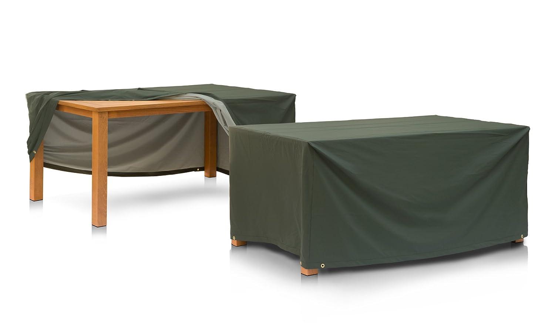 Eigbrecht 146169 Wood Cover Abdeckhaube Schutzhülle mit Abhang für Tischplatten grün 160x95x70cm