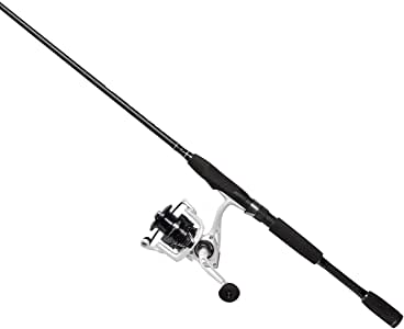 Cadence CC4 Spinning Combo Lightweight with 24-Ton 2-Piece Graphite Rod Strong Carbon Composite Frame & Side Plates Ergonomic EVA Handle Knob Reel & Rod Combo
