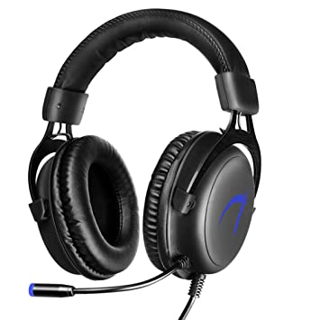 Auriculares Gaming para PC, JIEJIEWYD 7.1 Sonido Envolvente Música y Auriculares Gaming, USB Auriculares