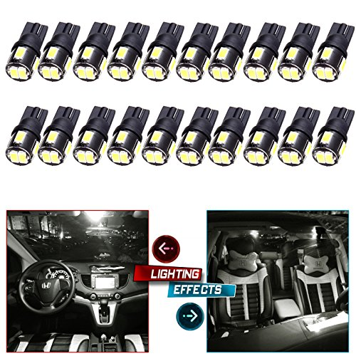 Wedge 168 194 LED Bulb for Dome Map Trunk/Cargo Area Step/Courtesy/Door Glove Box License Plate Light Bulb Replacement (Cargo Step)