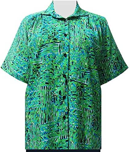 A Personal Touch Lime Tribal Designs Women's Plus Size Blouse
