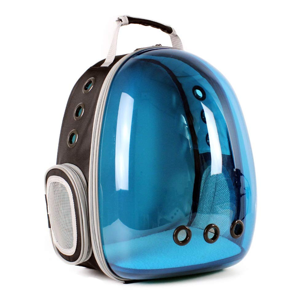 bluee ZALIANG Pet travel bag Radiation predection cat dog bag pet space bag out bag portable backpack shoulder transparent compartment breathable (color   bluee)