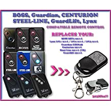 BOSS / GUARDIAN / STEEL LINE / GUARDLIFT / CENTURION / LYNX & MODERN compatible remote control, replacement transmitter for garage door openers! Top Quality key fob, 303MHz !!!
