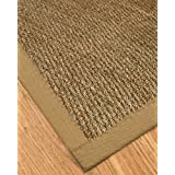 "Mayfair Seagrass Runner - Sage/Khaki Border, Handcrafted, Cotton Border, Non-Slip Latex Backing, 2'6"" x 8'"