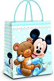 Sacola De Papel Para Presente C/ 10 Unidades Laminado Na Estampa Mickey Baby - Tamanho 21,5X15X8 Cm - Certificação Fsc - Crom