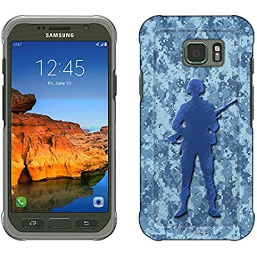 Samsung Galaxy S7 Active Case, Snap On Cover by Trek Digital Blue Camouflage Soldier Slim Case Sales