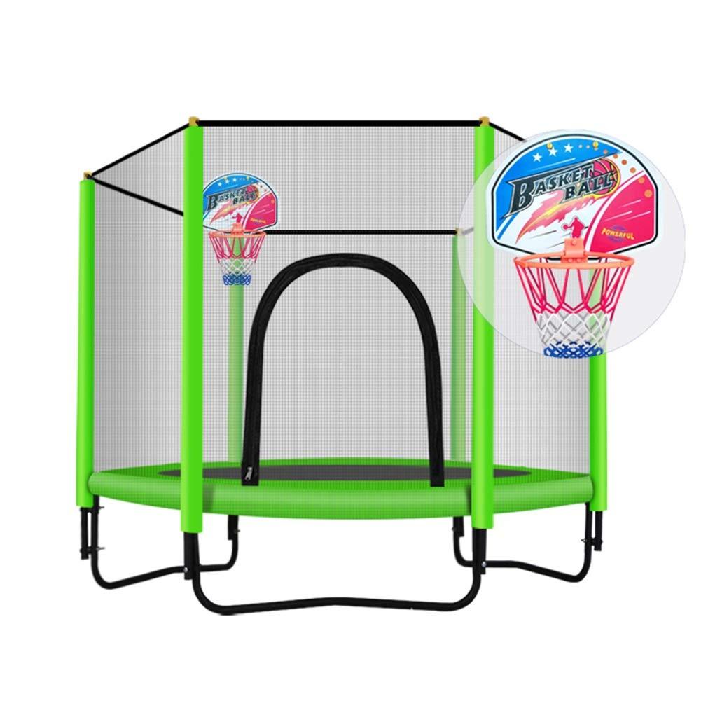 Gartentrampoline Trampolin mit Korb, Safe Elastic Band Rebounder Fitnesstrainer für Kinder oder Erwachsene