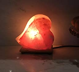 Salt Lamps Yes Or No : Amazon.com: Himalayan Salt Lamp Ionic Air Purifier Hand Carved Romantic Heart Shaped Rock ...
