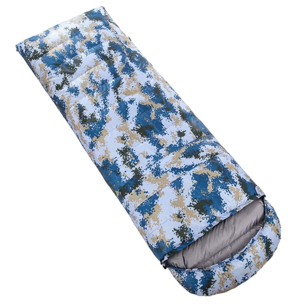 D 1.2kg DGB Enveloppe Sac De Couchage Camping Ultra-léger en Plein Air Randonnée Pause-déjeuner Le Duvet De Canard Blanc Adulte Camouflage Peut Être Cousu