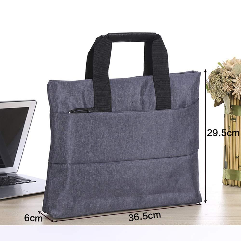 GaoJinZhuan Tragbare Dokumententasche Dokumententasche Dokumententasche A4 Reißverschlusstasche Baumwolle Canvas Datei Aktentasche Mode Business Broschüre Konferenztasche B07M643QYG | Haltbarkeit  37e089