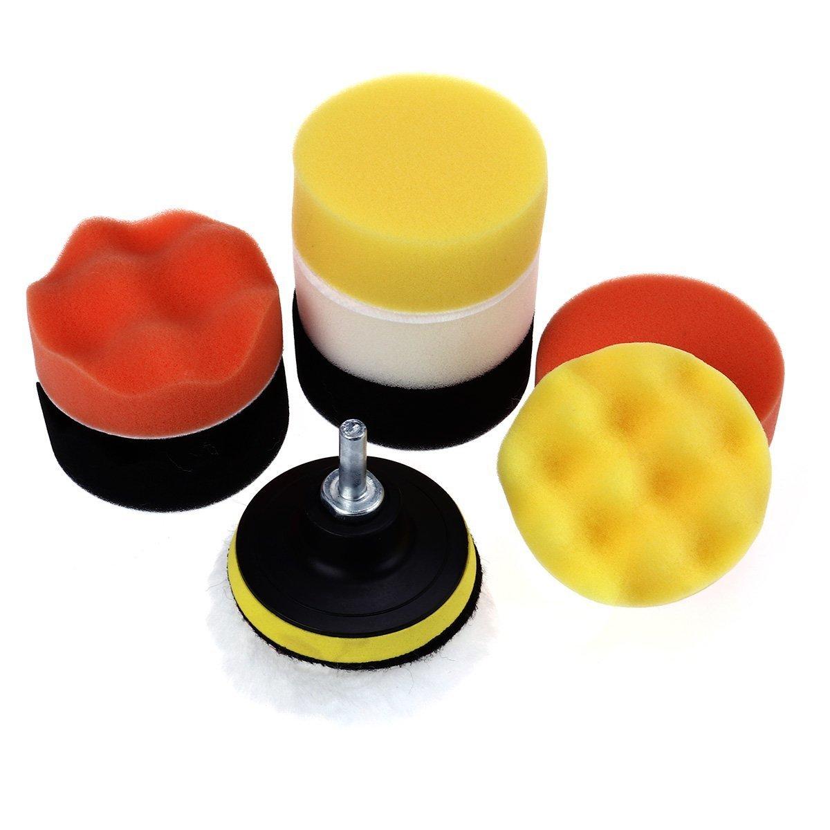 WINOMO 10pcs 7, 6cm Compound perceuse kit de coussinets d'éponge de polissage pour auto ponçage polissage d'étanchéité Glaze épilation à la cire professionnel