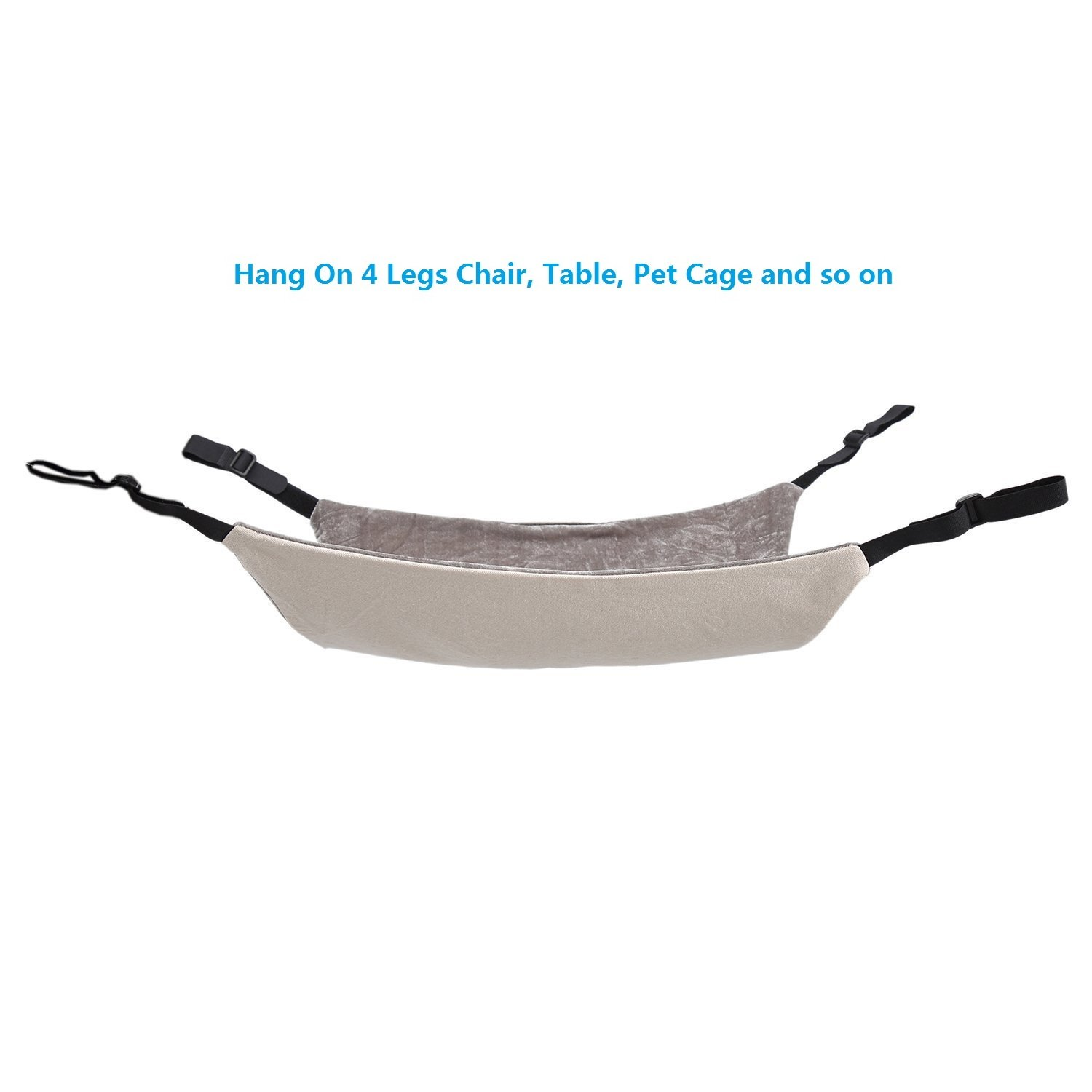 Amazon.com : Cat Hammock Bed - Soft Warm and Comfortable Pet Hammock Use with Chair for Kitten, Ferret, Puppy, or Small Pet (Khaki) : Pet Supplies