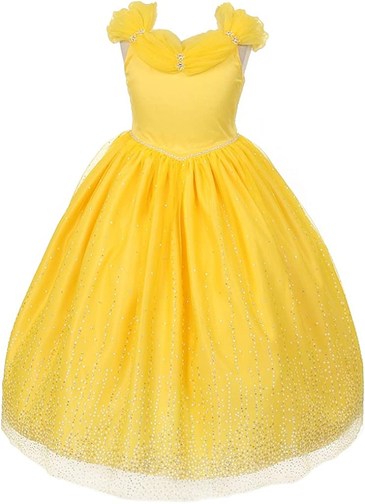 AkiDress Off-Shoulder Princess 67% OFF of fixed price Luxury goods Style Flower Dress Girl