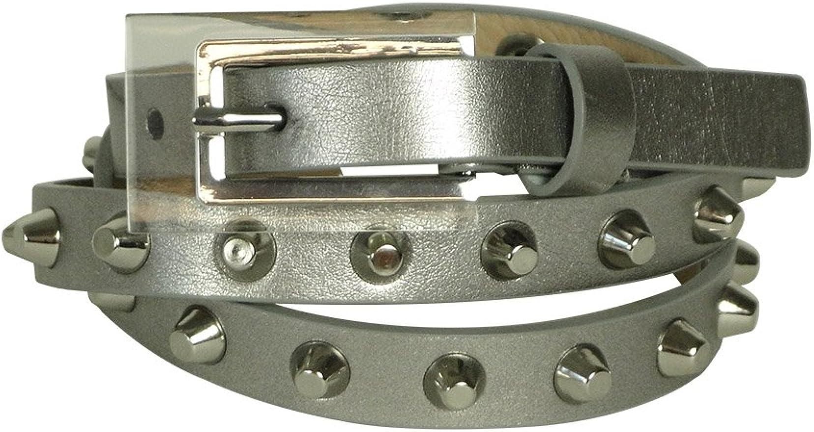 Vince Camuto Womens Studded 5 Notch Belt