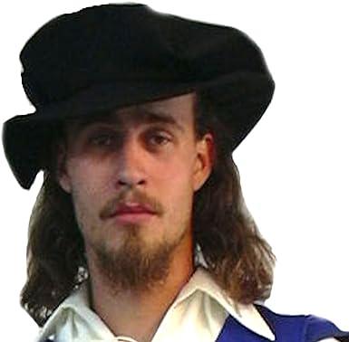 Renaissance Men/'s Tudor Hat Cap with Fur Costume Handmade