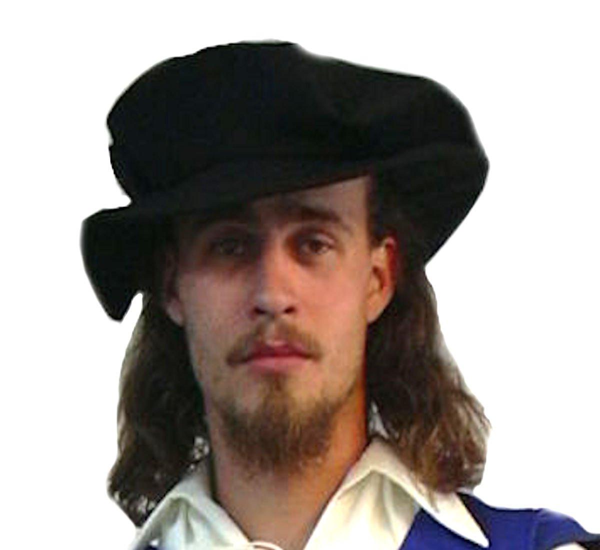 Men's Renaissance Tudor Black Flat Cap - DeluxeAdultCostumes.com