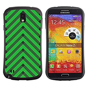 "Hypernova Slim Fit Dual Barniz Protector Caso Case Funda Para Samsung Note 3 [Modelo de Chevron del art déco""]"