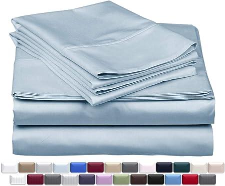 Juego de sábanas de 4 piezas de algodón egipcio de 1000 hilos, se adapta a colchones de hasta 18 pulgadas de profundidad: Amazon.es: Hogar