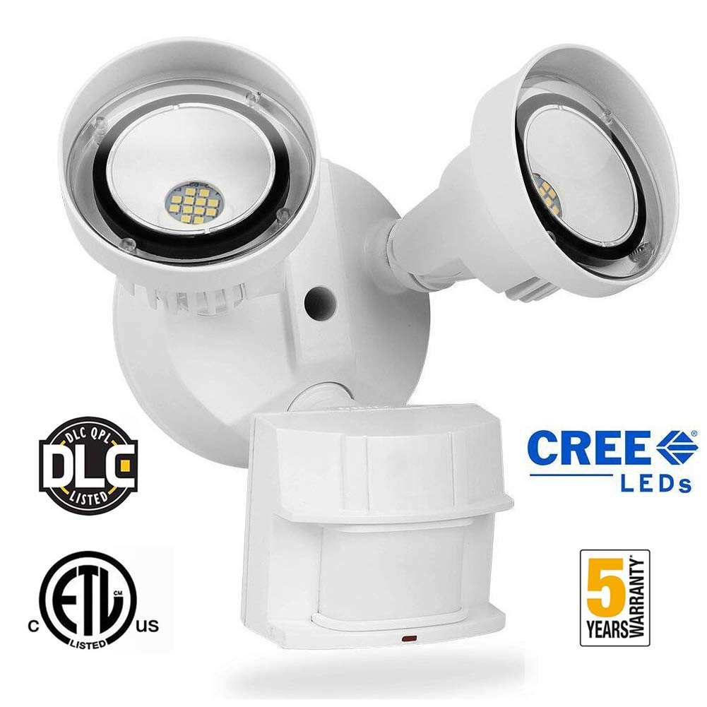 20W LED Securtiy Light Motion Sensor Outdoor,LEDMEI CREE LED 5000K Daylight 2200LM 250W Equivalent IP65 Waterproof Outdoor Motion Sensor Adjustable Flood Light for Entruyway Staris Yard Garage