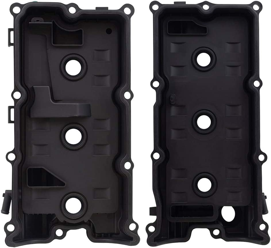 Brock Replacement Set Engine Valve Covers Compatible with 2005-2019 Frontier 4.0L 13264EA210 13264EA200