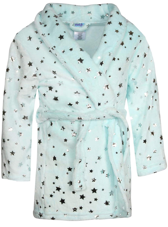 Sleep On It Girl's Coral Fleece Printed Medium Length Robe