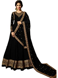 Zarina Fashion Womens Heavy Jarjot Codding and Stone Work Indian Partywear Full Stitched Anarkali Style Suit and Dupatta