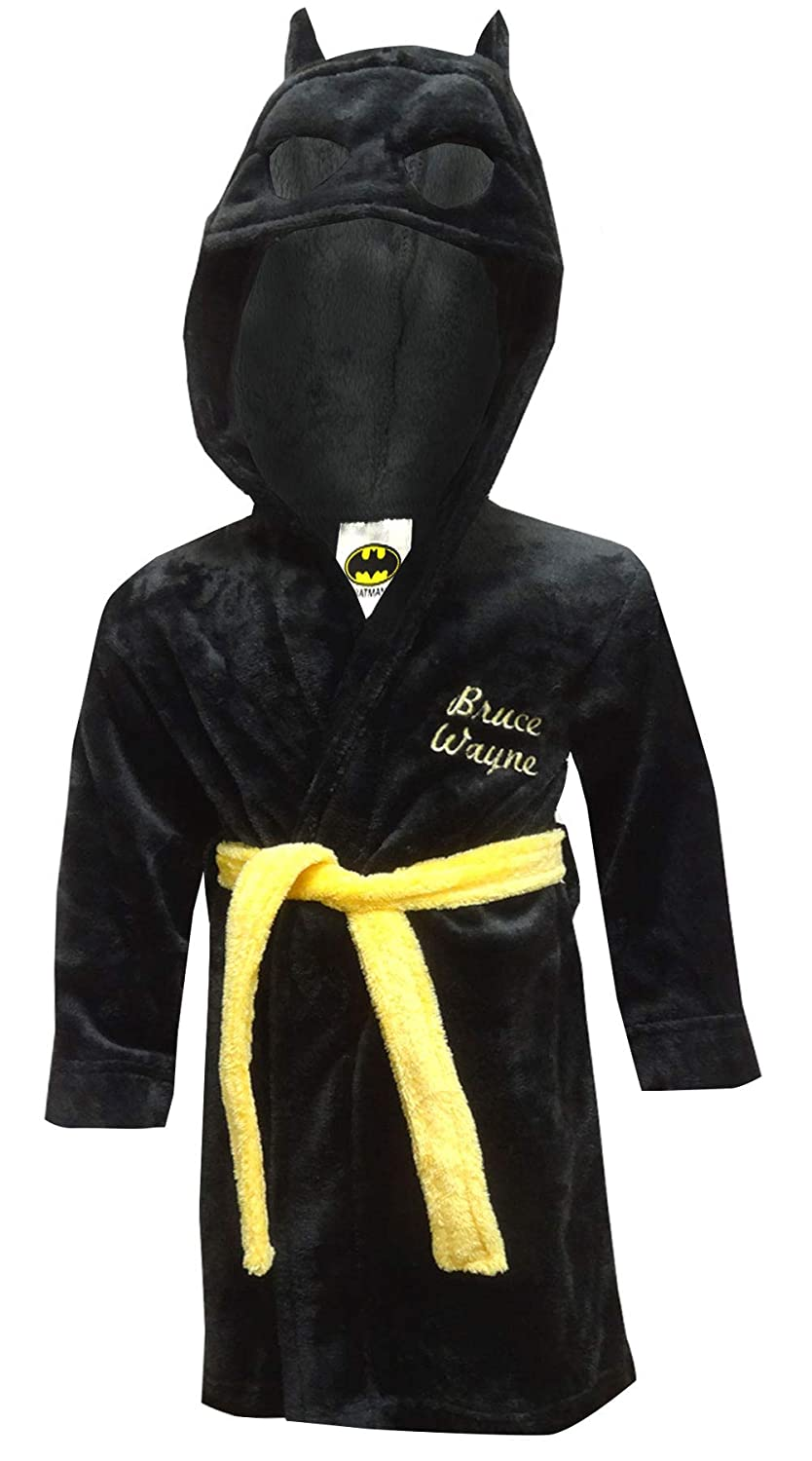 Komar Kids Boys' DC Comics Batman I am Bruce Wayne Plush Toddler Robe K183681BM