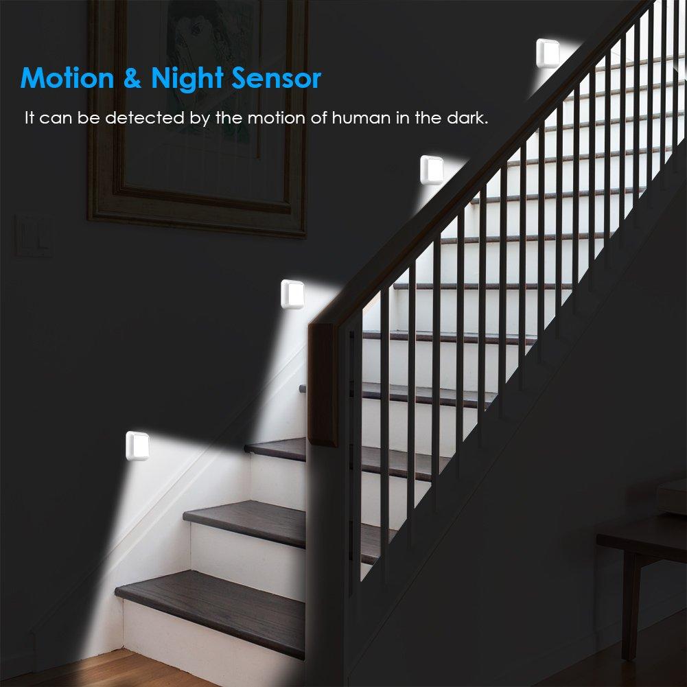 URPOWER Motion Sensor Light, Motion Sensor Closet Lights Battery Operated Stick-on Anywhere Wireless Night Lights Magnetic Motion Sensor Security Closet Light for Stairway Closet by URPOWER (Image #7)
