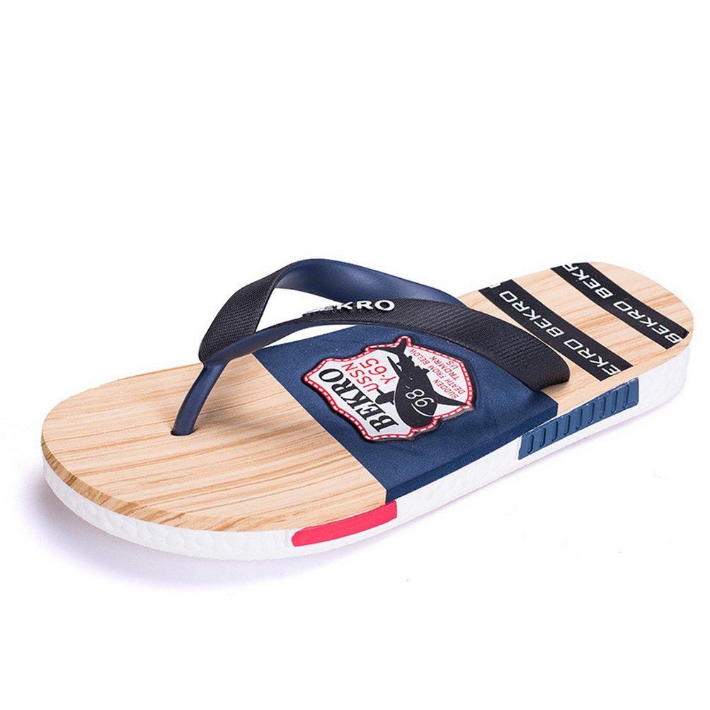 LISIMKE 2017 New Mens Summer Slipper Sandals Shoes-43 Black
