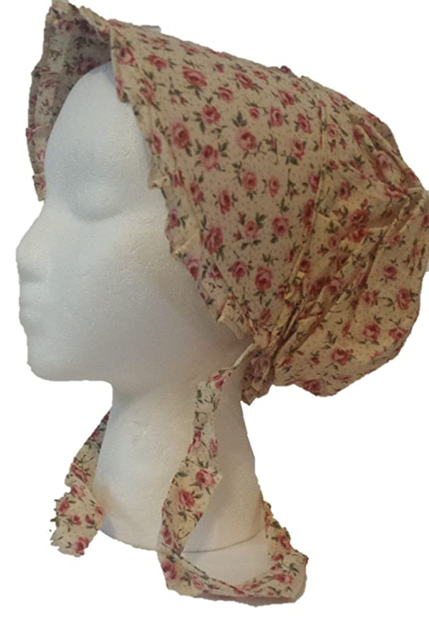 Edwardian Hats, Titanic Hats, Tea Party Hats Rose Prairie Sun Bonnet  AT vintagedancer.com