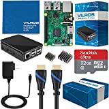 Vilros Raspberry Pi 3 Starter Kit Bundle with Black Case and 32GB SD Card (8 Items)