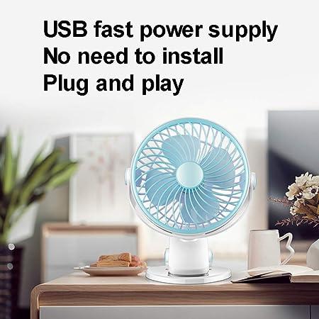 Outdoor Travel,White XB Small Personal USB Fan Portable Mini Table Desk Fan Noiseless USB Cooling Fan Office for Home