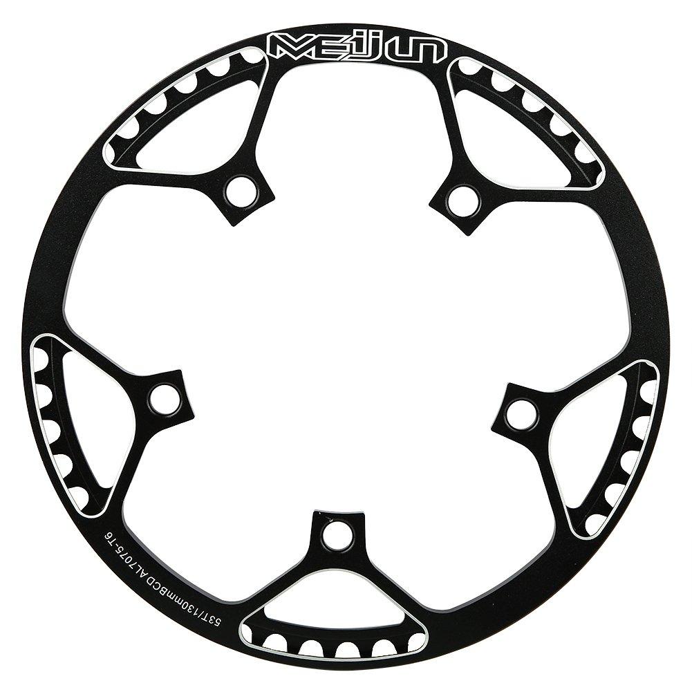 Anillo de Cadena Simple Plato Delantero 53T Aleación de aluminio para Bicicleta de Montaña(negro) Dilwe