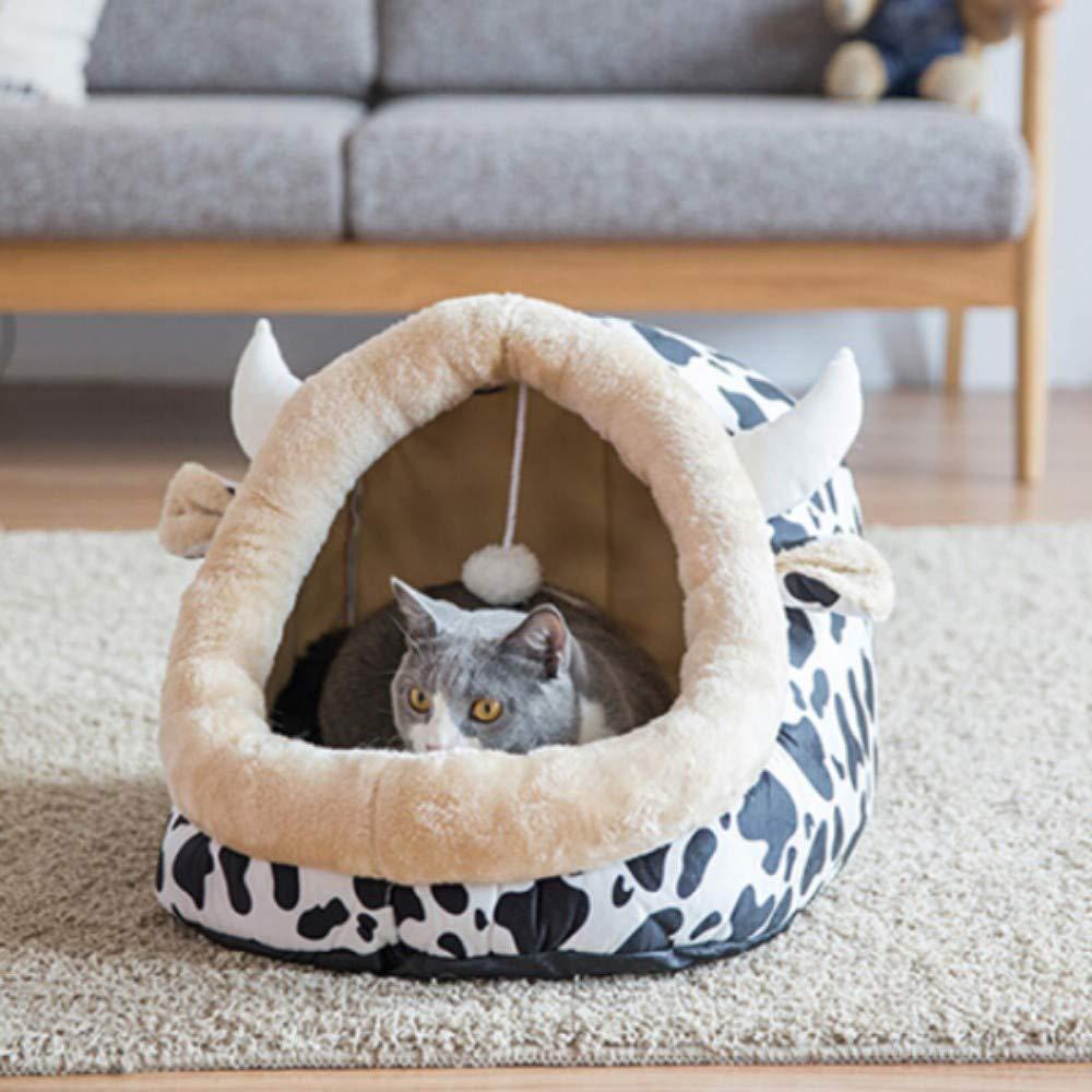 Haierr Pet Bed Kennel Dogbedcat Litter Removable Pet Dog House Dog Sleeping Bag Four Seasons Universal (Cat 25 Kg Dog 20 Kg)