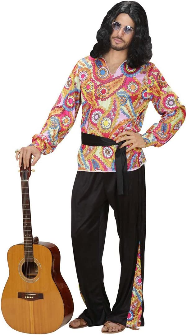 Disfraz de hombre hippie 70er traje pantalón camisa hippie años ...
