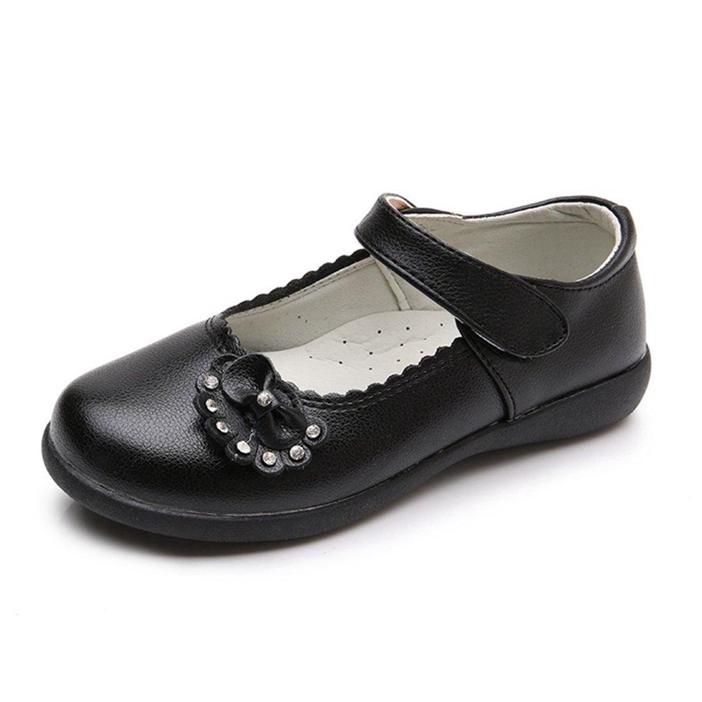 CYBLING Girls School Uniform Dress Shoes Princess Mary Jane Ballet Ballerina Flats (Toddler/Little Kid)