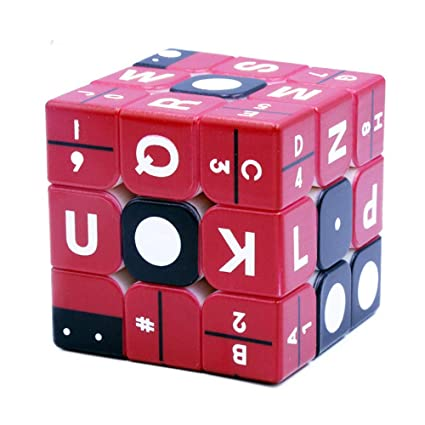 Alician 3x3x3 Based Recognition Magic Cube Puzzle Toy for Kids Blind Man