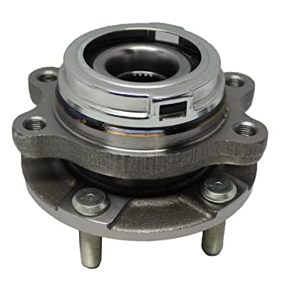 Detroit Axle Front Passenger Side Complete Wheel Hub & Bearing Assembly for Nissan Quest & Murano With-ABS: Automotive