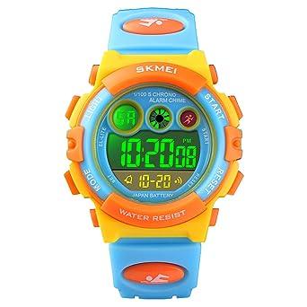 Amazon.com: Reloj digital deportivo para niños y niñas ...