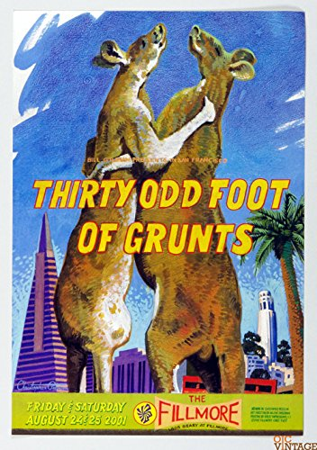 Thirty Odd Foot of Grunts New Fillmore F477 Poster 2001 Aug 24