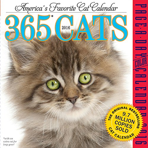 365 Cats Color Page-A-Day Calendar -