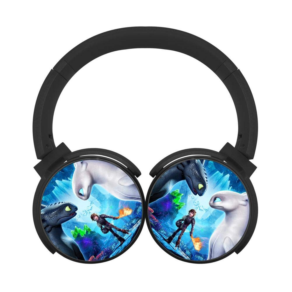 Mobile Wireless Bluetooth Headset How to Train Your Dragon 3D Printing Over Ear Headphones Black