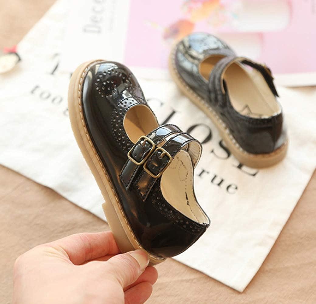 LFHT Kids Grils Oxford Shoes Strap School Uniform Dress Mary Jane Flats Cutout Footwear Toddler//Little Kid