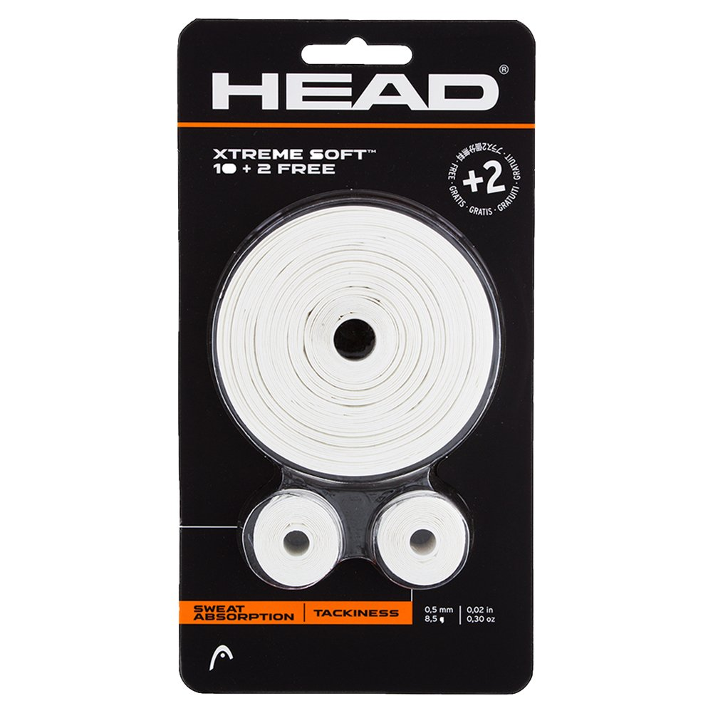 Head Blister Xtreme Soft 10 + 2 - Overgrip, color blanco 66000026401200