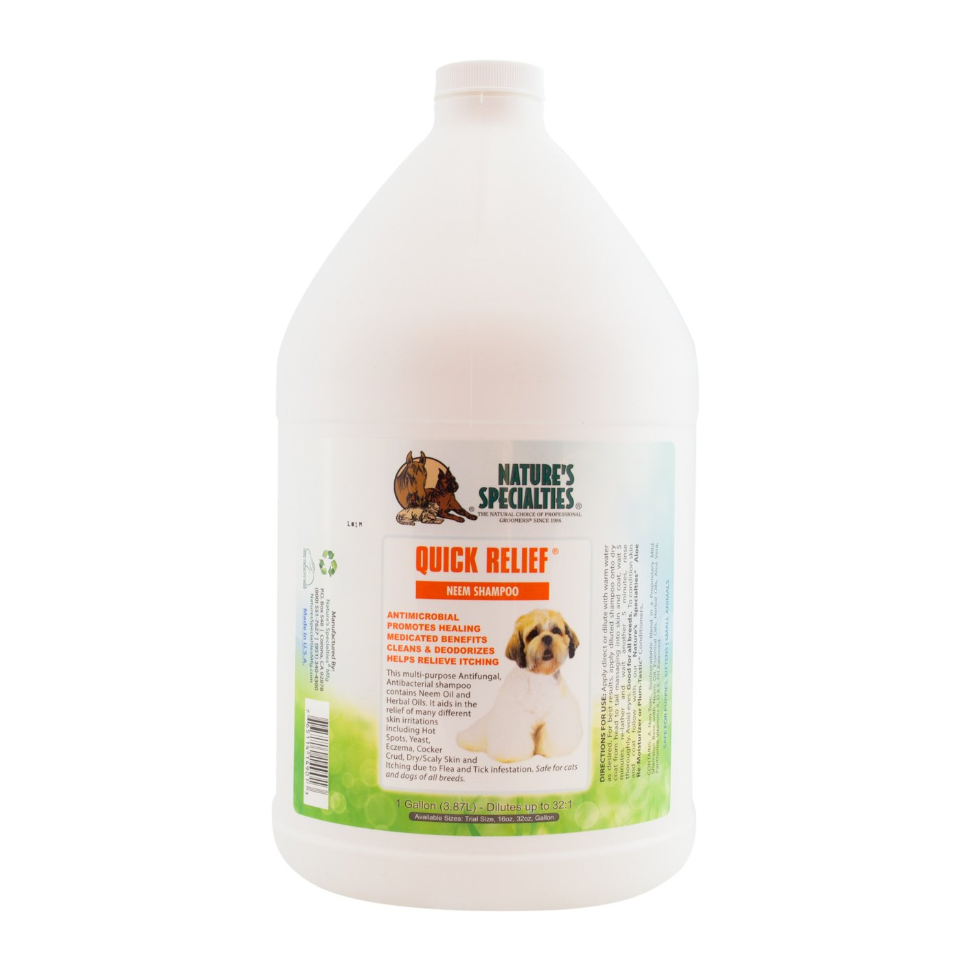 Nature's Specialties Quick Relief Neem Shampoo for Pets by Nature's Specialties Mfg