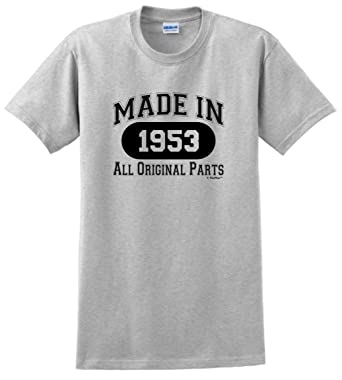 65th Birthday Party Supplies Gift Made 1953 All Original Parts T Shirt Small
